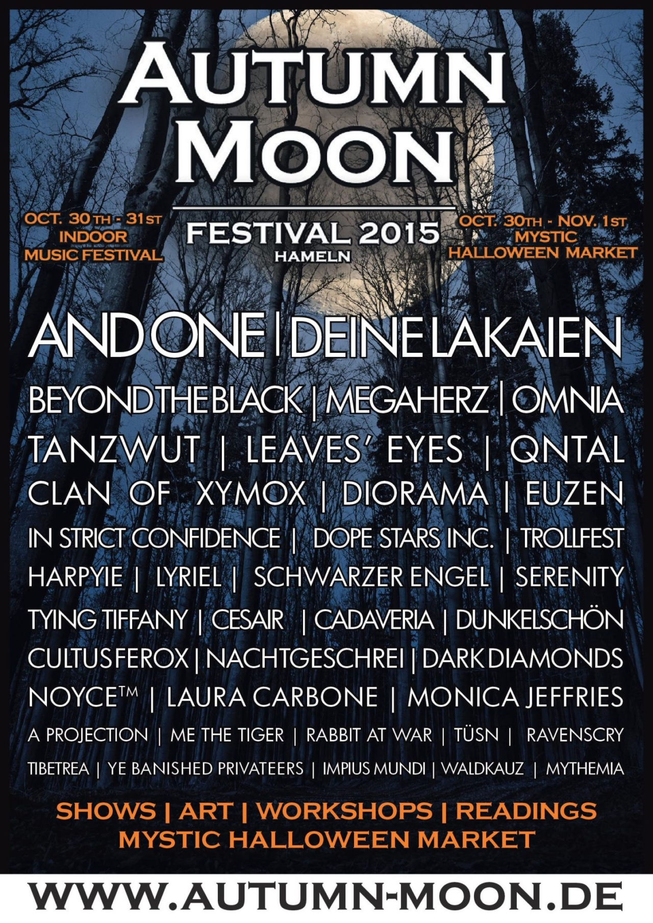 AUTUMN MOON FESTIVAL 2015: Line-Up und Infos